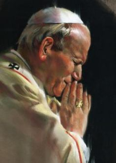 Blessed Pope John Paul II. Beautiful painting. He will be hopefully be santified in October!
