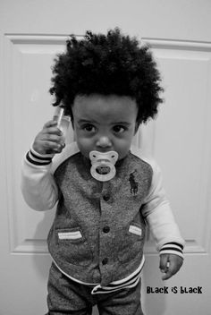 Baby boy natural style!