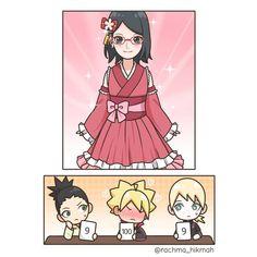 Tenten Y Neji, Sarada E Boruto, Sasuke Sakura Sarada, Naruko Uzumaki, Naruto And Hinata, Naruto Cute, Naruto Shippuden Anime, Comic Anime, Naruto Comic