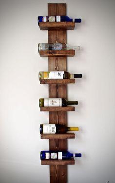 Rustic Wine Rack Vertical Wine Rack Rustic by DynastiMillworks