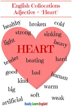"English ""heart"" collocations"