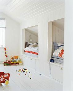 intégré dans des couchettes dans une chambre denfants partagée