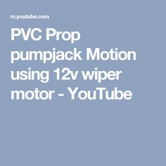 Sample of pumpjack motion from a wiper motor using ¾ inch PVC and a few 1 inch PVC crosses. This shows the basic motion that can be used for a Halloween . Youtube Halloween