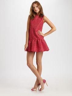 Red Valentino       Faille Polka Dot Dress - Lyst