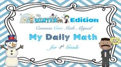 Common Core Math - My Daily Math for 4th Grade This is the full set including data tracking sheets, an answer key, and over 40 common core math problems!