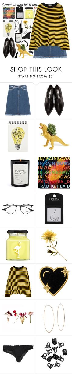 """words are blunt instruments"" by hannah-gw-martin ❤ liked on Polyvore featuring Acne Studios, The Plaid Pigeon, Ray-Ban, Topshop, Lord & Berry, Flamingo Candles, Stoney Clover Lane, Michael Kors, Forever 21 and H&M"