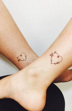 Mom Daughter Tattoos, Mother Daughter Tattoos, Tattoos For Daughters, Mother Daughters, Sister Heart Tattoos, Bff Tats, Little Heart Tattoos, Baby Tattoos, Cute Tattoos