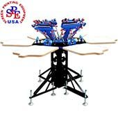 Those who have screen printing business and need to print t-shirts regularly, 6 Color 6 Station Double Wheel Screen Printing Machine is perfect for them Screen Printing Companies, Screen Printing Supplies, Screen Printing Equipment, Screen Printing Press, Screen Printing Machine, Screen Printer, Illustration, Prints, Color