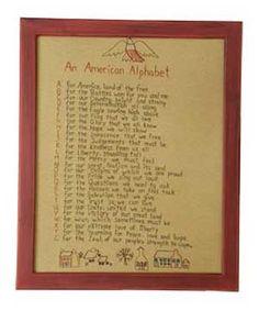 American Alphabet Stitchery