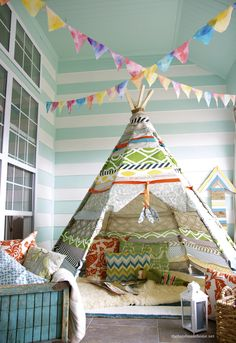 teepee diy Oh My! Chris and I are so going to have to make this for Tristan!