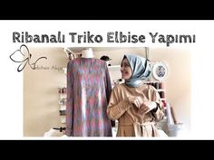 Ribanalı Triko Elbise Yapımı - YouTube Kimono Top, Sewing, Youtube, Pattern, Anne, Fashion, Moda, Dressmaking, Couture