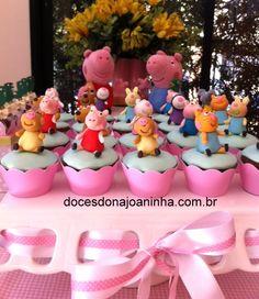Mini Cupcakes decorados Peppa Pig e Amigos