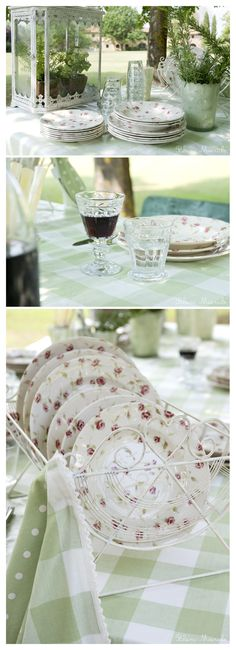 country chic pic nic in a pastel green color
