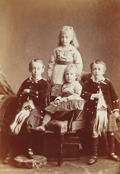 Hills & Saunders - The Children of Prince and Princess Christian of Schleswig-Holstein, 1875 [in Portraits of Royal Children Vol.21 1875-77]