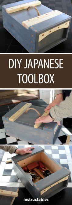 DIY Japanese Toolbox #woodworking #workshop #storage