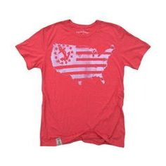 US Map Yacht Ensign Unisex T-Shirt in Red & White