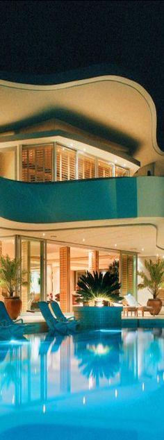 Unique Home Architecture Jacuzzi, Villas, Porch And Terrace, Luxury Homes Dream Houses, Luxury Life, Luxury Penthouse, Luxury Pools, Dream Pools, Cool Pools
