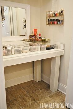 DIY Makeup Vanity With Glass Top Made From Ikea Parts. | Beauty   Makeup |  Pinterest | Makeup Vanities, Diy Makeup Vanity And Vanities
