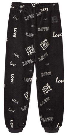 The BRAND Black Love Print Fleece Pants