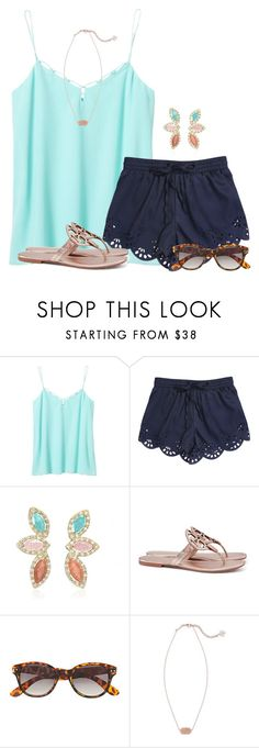 """""""Light colors:)"""" by flroasburn ❤ liked on Polyvore featuring Banana Republic, Tory Burch, H&M and Kendra Scott"""