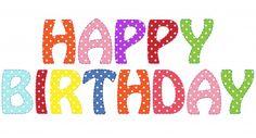 Happy Birthday Text Clipart