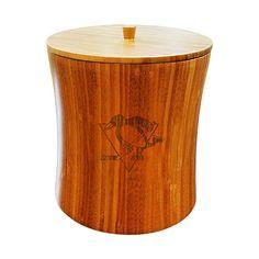 Pittsburgh Penguins Bamboo Ice Bucket, Brown