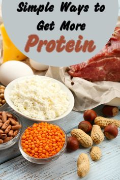 8 Ways to Get more Protein- Getting more protein into your diet is vital when you start a fitness routine. Here are 8 simple ways to get more protein in your diet.