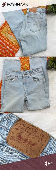 Vintage 1990s Levi 505 light wash mom jeans So cute! The perfect pair of mom jeans! Vintage from the 90s! The 505 style is the exact same fit as the 501s except they're zipper fly instead of the button fly! Inseam-32, waist-16 straight across, rise-12. *** no modeling or trades! Levi's Jeans