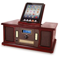 The iPad Classic Cabinet Music Center - Hammacher Schlemmer