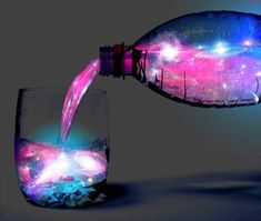 Given a black light, some tonic, some gin or vodka, and pink lemonade concentrate, you can mix a cocktail that looks like the aurora borealis