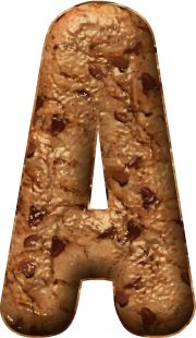 Alfabeto Decorativo: Alfabeto - Cookies - PNG - Maiúsculas e Minúsculas...