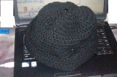 Handmade crochet hat with brim by deannatroupe on Etsy, $20.00