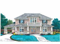 Eplans NeoClassical House Plan - Make It All Yours - 2690 Square Feet and 4 Bedrooms from Eplans - House Plan Code HWEPL68946