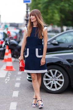 caroline de maigret blue dress
