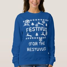 4fd9eb7ef Festivus for the restuvus ugly Hanukkah Sweater Ugly Hanukkah Sweater,  Holiday Sweater, Ugly Christmas