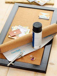 Kitchen Cabinet Makeover: Corkboard Cabinets