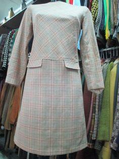 Vestito a quadri anni 60 in panno di lana/Plaid dress of the 60's di FermataDautobus su Etsy