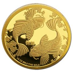 Niue 2014 $25 Koi Fish 1/4oz Gold Proof