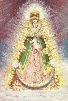 """Nuestra Señora del Rocío. Huelva.  Reprod. del libro """"Leyendas piadosas de la Virgen en España"""" LVA-6"""