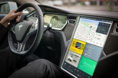 Estúdio faz redesign de interface do Tesla Model S