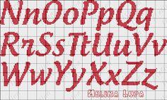 Olá amigas tudo bem?  Vou postar as duas últimas toalhas de banho que bordei.  Estou com mais encomendas e quando for terminando vou postan... Crochet Alphabet, Crochet Letters, Cross Stitch Alphabet Patterns, Cross Stitch Letters, Cross Stitch Books, Beaded Cross Stitch, Cross Stitch Designs, Cross Stitch Embroidery, Stitch Patterns