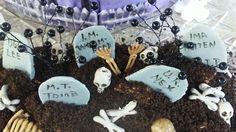 Birthday cake graveyard