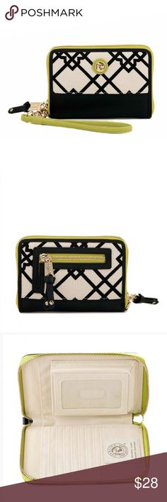 Spartina 449 Seven Oaks Phone Wrist Wallet Spartina 449 Seven Oaks Phone Wrist Wallet  NEW WITH TAGS!   Smart and stylish! 😍😍😍 You can find this perfect pair in our phone wrist wallet, a safe storage place for your phone to avoid misplacement or a dreaded drop! The interior is equipped with a center zip divider and plenty of card slots. Removable wristlet strap makes it convenient to use on the go! Spartina 449 Bags Wallets