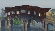 Villa Minecraft, Minecraft Bridges, Minecraft Cottage, Minecraft Mansion, Minecraft Structures, Cute Minecraft Houses, Minecraft Houses Survival, Minecraft Plans, Minecraft City