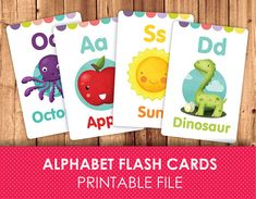 Flashcards for Kids / Printable Flash Cards / ABC FlashCards / Alphabet / Printable Alphabet / Printable Alphabet Flash Cards Printable, Alphabet Wall Cards, Printable Cards, Printable Flashcards, Free Printables, Spanish Flashcards, Flashcards For Kids, Abc For Kids, Alphabet For Kids