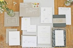 Boxed rustic wedding invitation suite   Photo: onelove photography