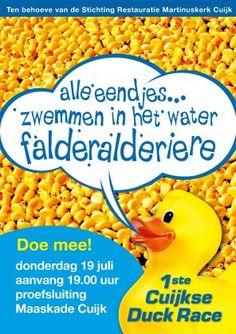 Eerste Kuukse Duck-Race op de Maas