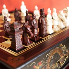 A handcrafted chess set makes a strategic gift for Dad