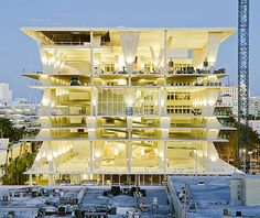 new parking garage by the celebrated Swiss architecture team of Herzog & de Meuron