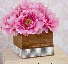 Rustic Barnwood 4x4 Planter Box $9 each / 3 for $8 each